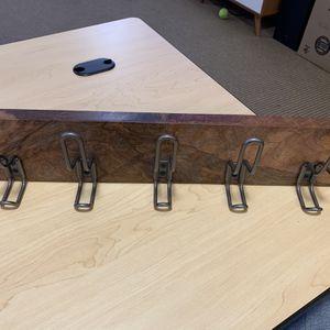 Industrial Wood & Metal Hook Rack for Sale in Portland, OR