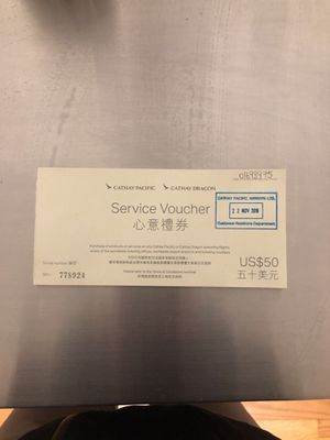 Cathay pacific service vouchers $150 worth for Sale in Boston, MA
