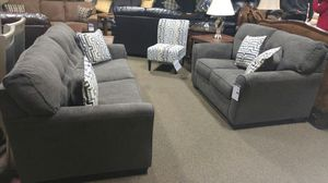 GREAT SOFA AND LOVESEAT SET IN GRAY for Sale in Portland, OR
