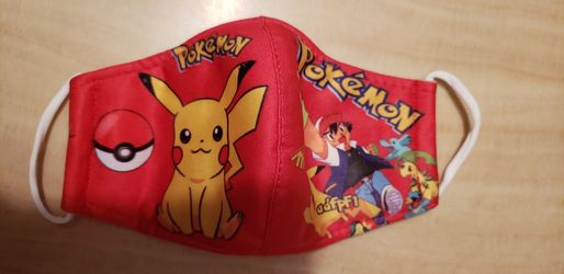 Pokemon Kids Face Mask Red Double Layer for Sale in Los Angeles,  CA