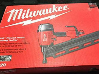 New Milwaukee Pneumatic 3-1/2 in. 21 Degree Full Round Framing Nailer for Sale in Wenatchee,  WA