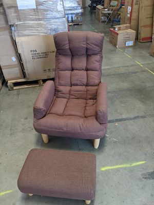 Adjustable lazy chair with ottoman Brownish rust color No Tr4 for Sale in Etiwanda, CA