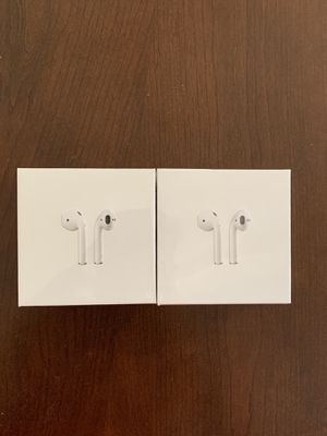 Brand new original airpods 2.0 with wireless charging case( latest model) for Sale in Garland, TX