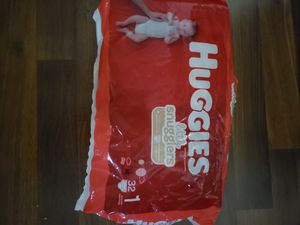 Huggies size 1 for Sale in Joliet, IL