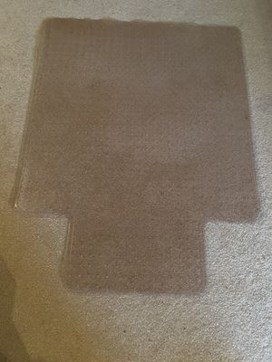 Desk chair mat for carpet for Sale in Washington, IL
