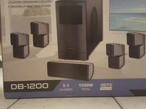 Darby Acoustics 5.1 home theater system 1500 watts DB-1200 for Sale in Hialeah, FL