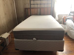 Single bed frame with mattress for Sale in Anderson, SC