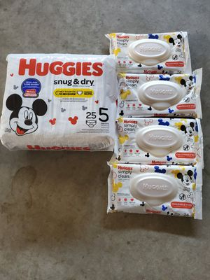 Huggies size 5 for Sale in Sanger, CA