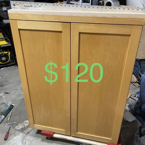 Solid Maple Cabinet With Shelves