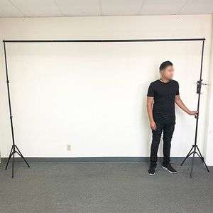 $30 (new in box) photo backdrop tripod stand adjustable 10ft wide x 6.5ft tall with clips and carry bag for Sale in Whittier, CA