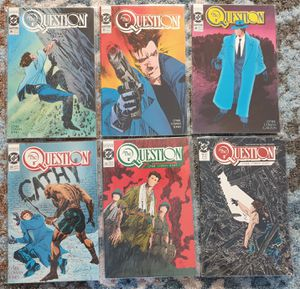 DC COMICS x 6. THE QUESTION (MATURE AUDIENCE). #31, #32, #33, #34, #35, #36. 1989 SERIES. NEW. BAGGED. for Sale in Las Vegas, NV