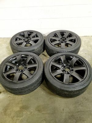 4 17 in 5x120 wheels rims and tires for Sale in Rockville, MD