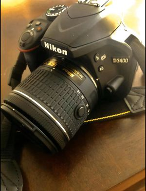 Nikon D3400 With two Lenses; 18-55 mm Lens and 70-300 mm for Sale in Amarillo, TX