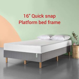 New QUEEN size Quick snap Platform bed frame $75 Or $250 with mattress for Sale in Columbus, OH