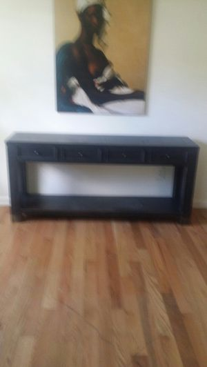 Wood console table with storage for Sale in Bowie, MD
