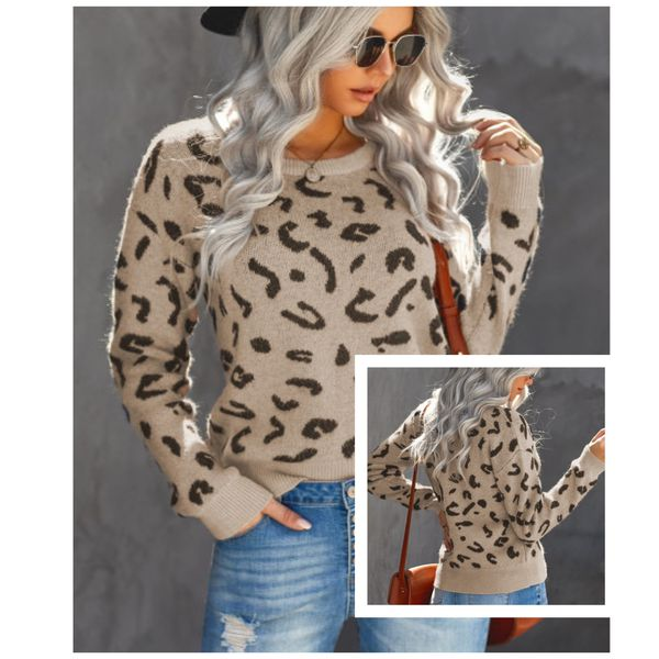 🆕 Ribbed Leopard Print Sweater