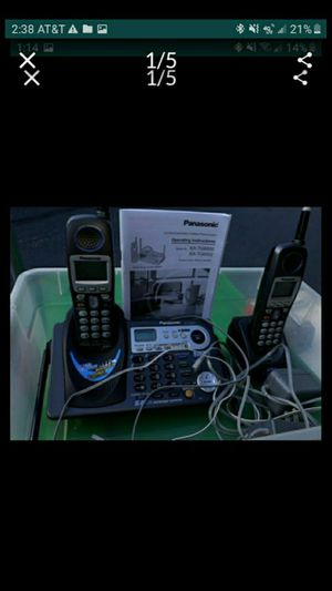 IL. PANASONIC 2 LINE PHONE. WITH 2 BASES. KXTG6502 for Sale in Bolingbrook, IL
