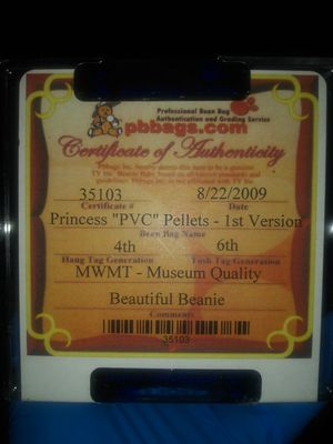 "Princess ""PVC"" pellets beanie baby for Sale in Enumclaw, WA"