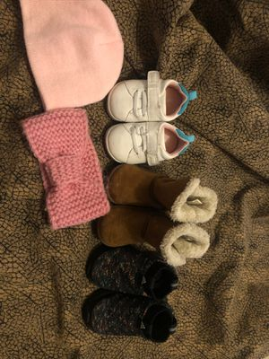 Only shoes, beanie and headband sold for Sale in Palmdale, CA
