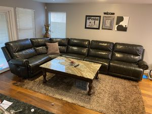 Leather sectional for Sale in Glendale, AZ