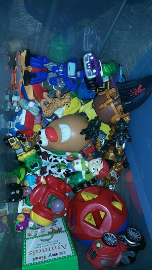 Bin of baby toddler toys for Sale in Boston, MA