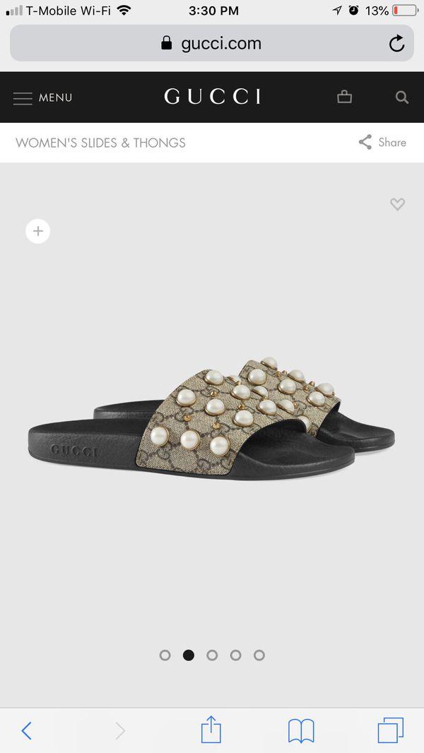 383313e1a348 Gucci women s slides size 40 pearl supreme for Sale in Dallas