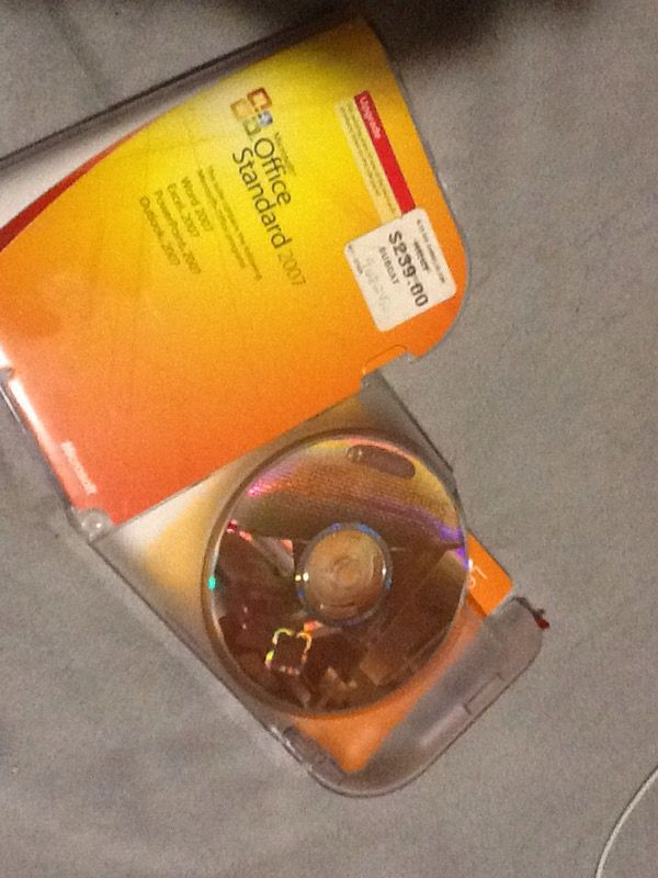 Microsoft office standard 2007 upgrade $15