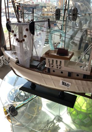 Wooden Decorative Fishing Boat for Sale in Monterey Park, CA