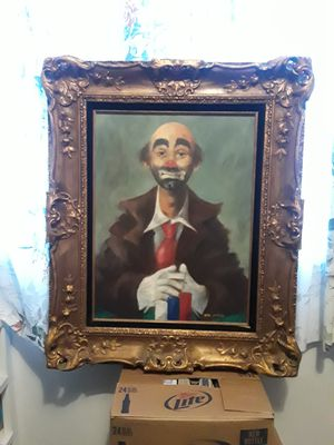 Clown painting, original by Crecy for Sale in Stevensville, MT