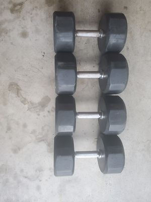 70 and 65 pound dumbbells for Sale in Elizabethtown, PA