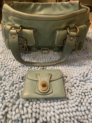 COACH 65TH ANNIVERSARY ICONIC TIFFANY BLUE LEGACY SATCHEL BAG #10330 AND MATCHING WALLET for Sale in Phoenix, AZ