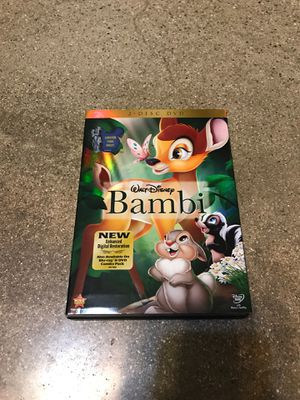 BAMBI DVD ENHANCED DIGITAL RESTORATION DISNEY FAST PLAY for Sale in West Covina, CA