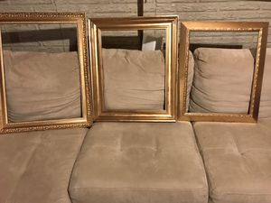 Gold wooden frames. Use as centerpiece borders for Sale in Lake Ridge, VA