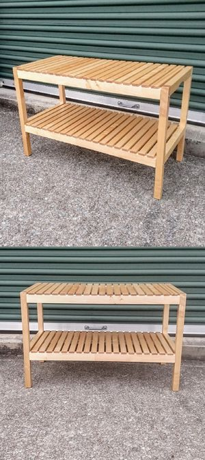 IKEA Molger Birch Wood Bench / Rack for Sale in Durham, NC