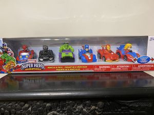 🔥BRAND NEW🎄 Marvel Super Hero Adventures 6-Pack Vehicle Set Christmas gifts toys kids for Sale in Los Angeles, CA