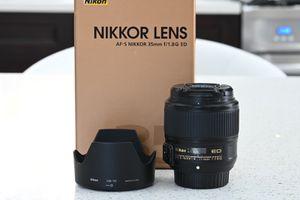 Nikon AF-S 35mm f/1.8 G ED (FX) F Mount Lens for Sale in Lomita, CA