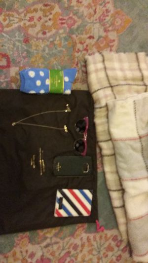 Kate spade new socks phone case scarfs eye glasses. Necklace ect for Sale in Obetz, OH