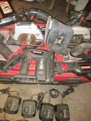 FOR TODAY N TODAY ONLY!!!Craftsman 19.2 volts battery powered tools for Sale in Selma, CA