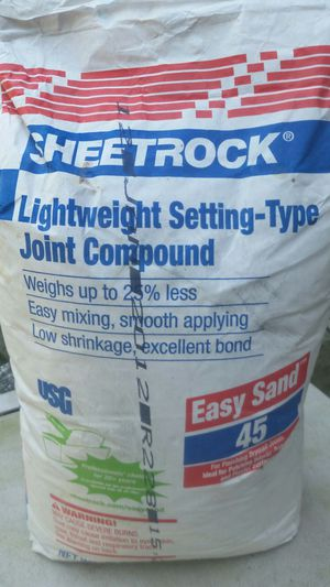 Sheet rock Joint Lightwright Setting Compound for Sale in Bowie, MD