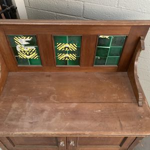 Free Vintage Table, Cabinet . Needs Work for Sale in Glendale, AZ