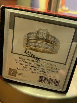 Cherish Collection 1/2 Carat Wedding Band Set! for Sale in San Jose,  CA