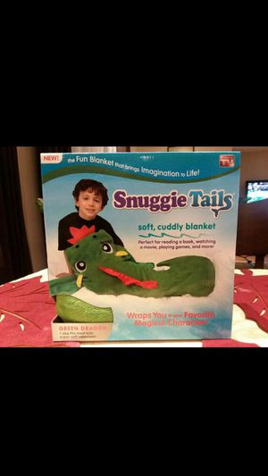 Snuggie Tails Soft, Cuddly Blanket, Green Dragon, As Seen on TV for Sale in Hemet, CA