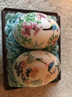 REDUCED PRICE: Vintage Japanese Beautiful HAND PAINTED Eggs for Sale in Rochester, MN