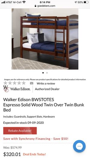 Twin over Twin Bunk bed (BRAND NEW IN BOX) for Sale in Bakersfield, CA