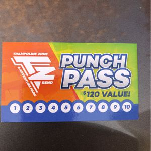 Trampoline Zone 10 Punch Pass for Sale in Bend, OR