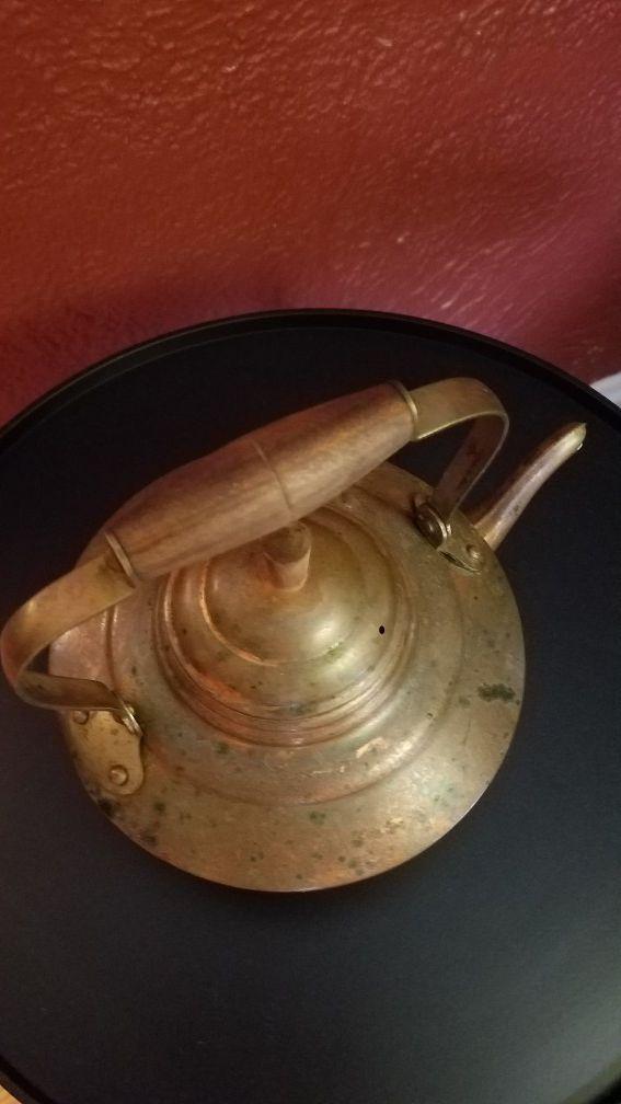 Copper tea kettle