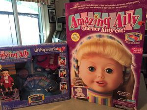 Vintage Amazing Ally & her kitty cat Doll brand new in box includes Skating Play set for Sale in Lake Mary, FL