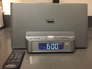 Sony Speaker Dock/Clock Radio for iPhone/iPad (model Sony ICF-CS15iP) for Sale in Arlington, VA