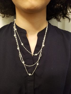 Silver colored layered Necklace for Sale in Alexandria, VA