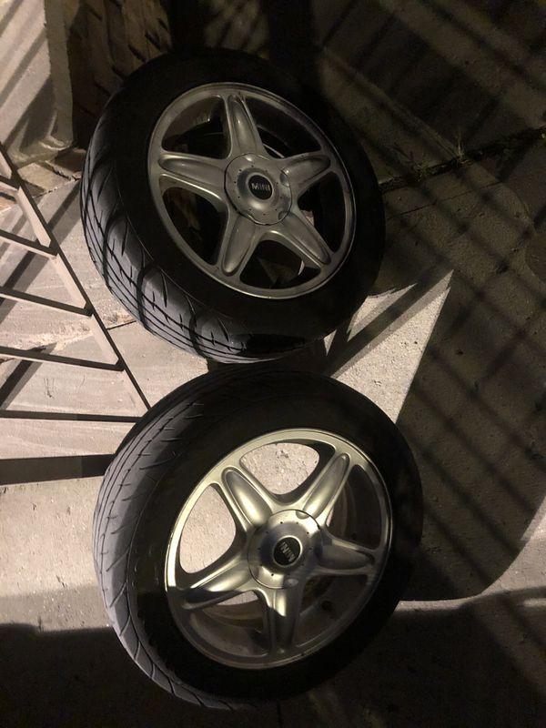 """Mini Cooper 16"""" rims and tires"""